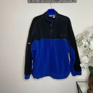 Reebok Blue Black Pullover Jacket Half Zip XL